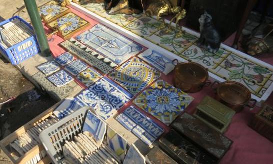 lisbon flea market tiles